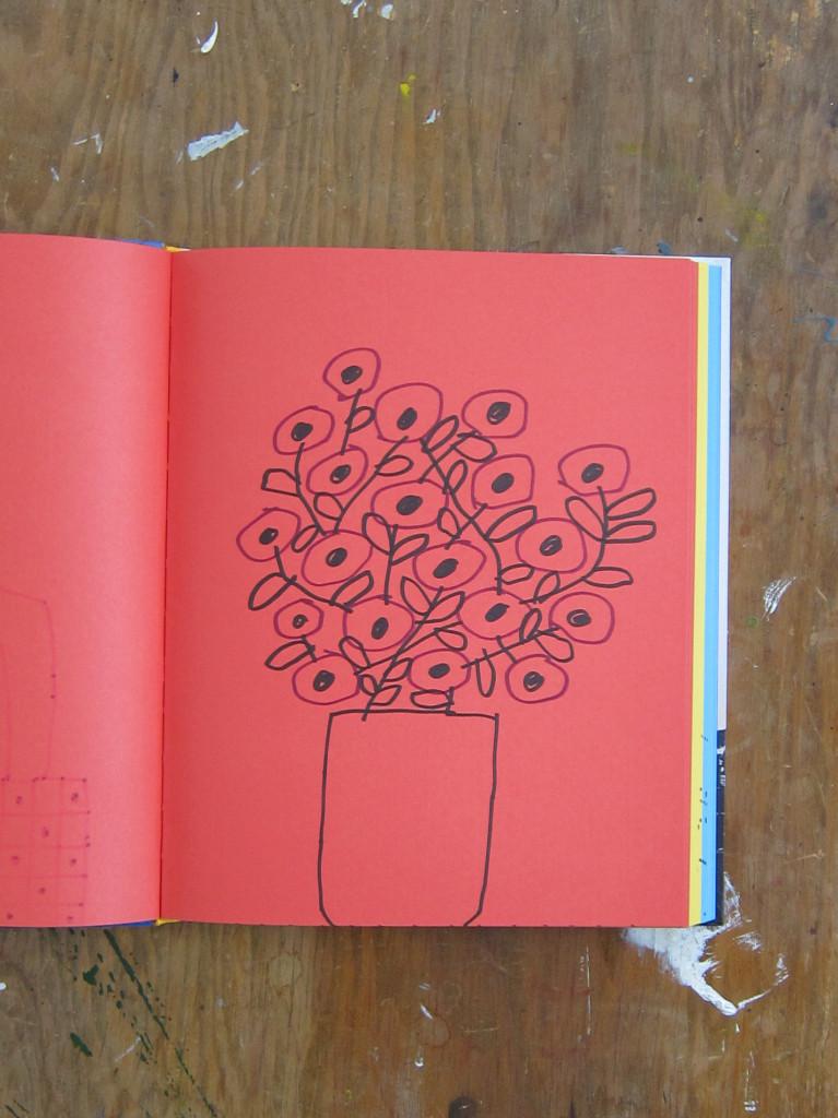 Plumb Titanic Sketchbook Red Flowers Sketch