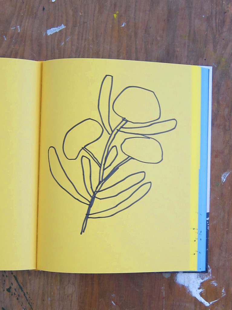 Plumb Titanic Sketchbook Yellow Flowers Sketch