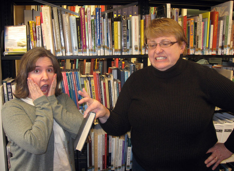 "Mary Kelly and Holly Hibner of ""Awful Library Books"" - Knock Knock Blog"