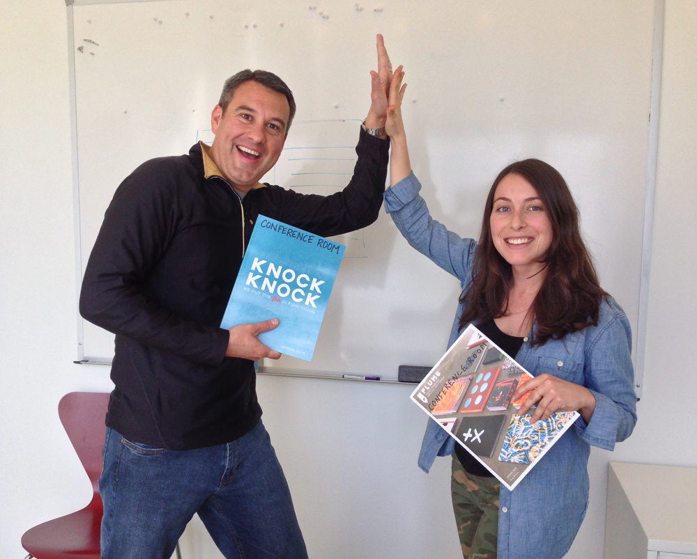 Jim and Erin - Knock Knock Celebrates High Five Day