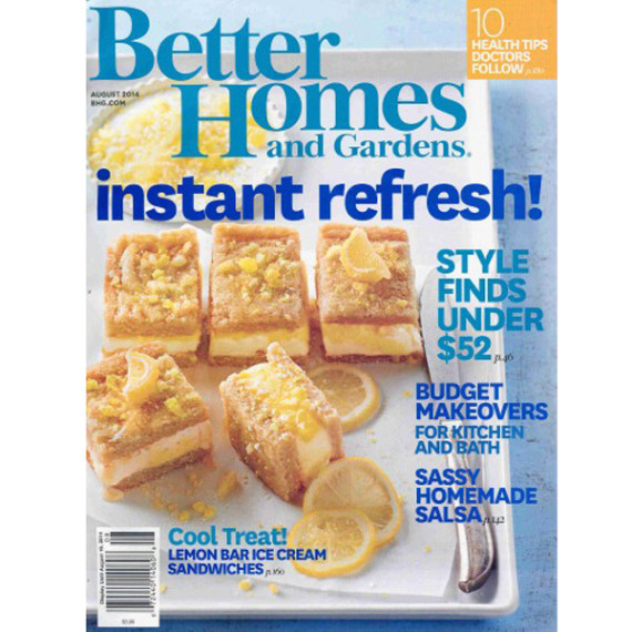 Better Homes and Gardens Cover, August 2014