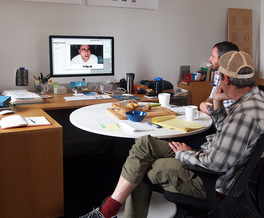 4.Chatting with each artist face-to-face was crucial during development. Skyping was our best friend.