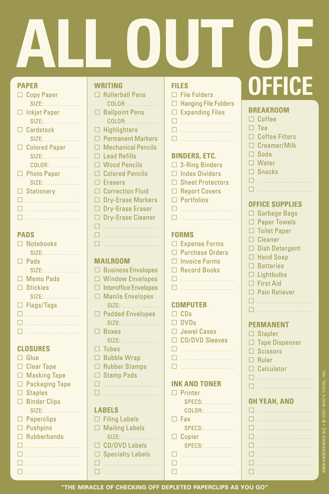 The All Out Of Office Pad