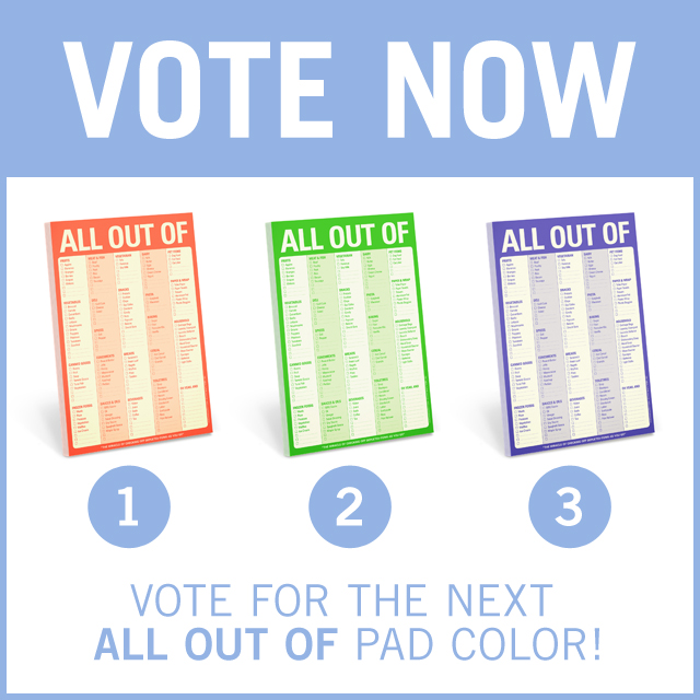 Vote for the New All Out Of Pad Color