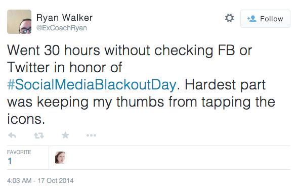 Social Media Blackout Day Tweet Success