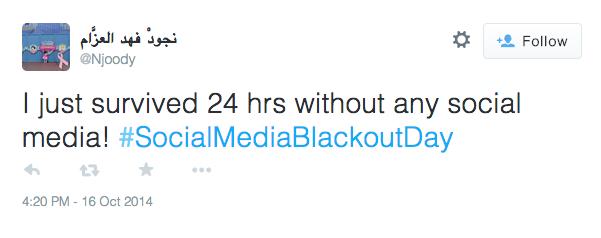 Social Media Blackout Day Tweet Success2
