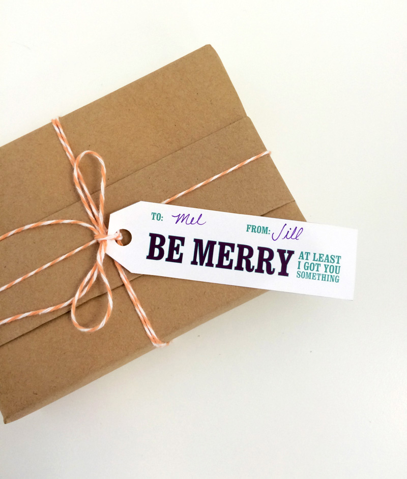 Knock Knock Free Printable Gift Tags - Be Merry