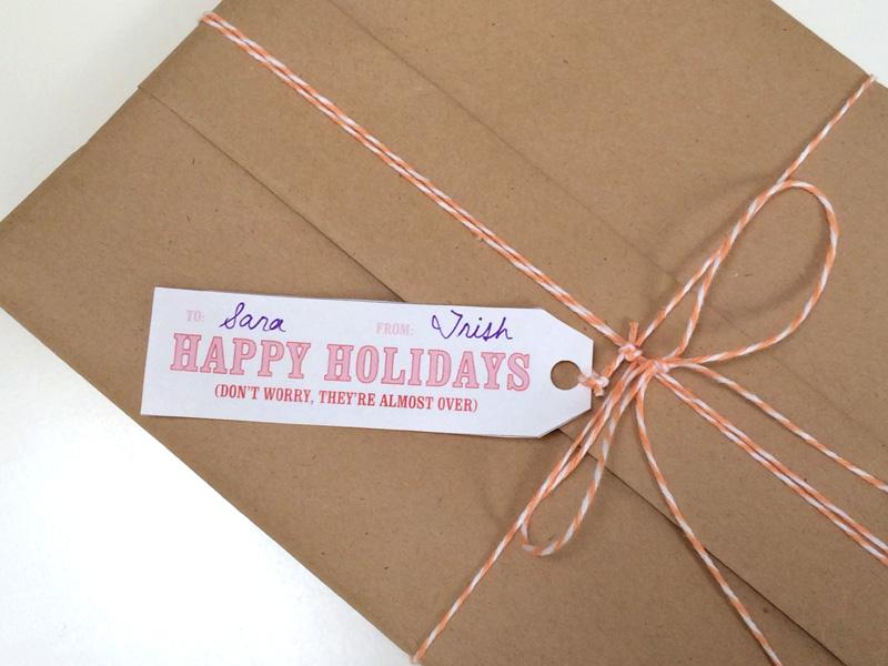 Knock Knock Free Printable Gift Tags - Happy Holidays