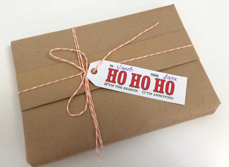 Knock Knock Free Printable Gift Tags - Ho Ho Ho