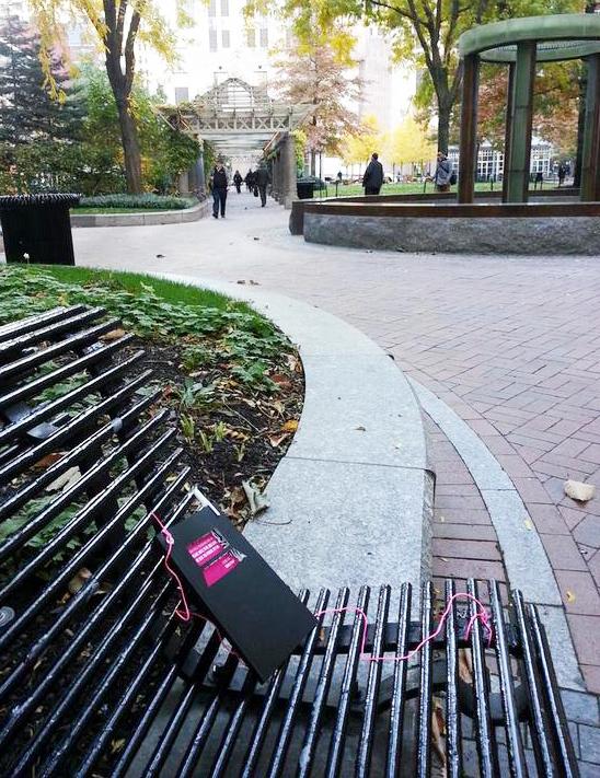 Bench Diary in Boston Park