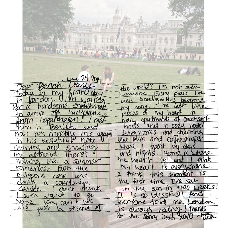 Bench Diary London