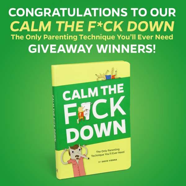 Calm the F*ck Down Giveaway Winners