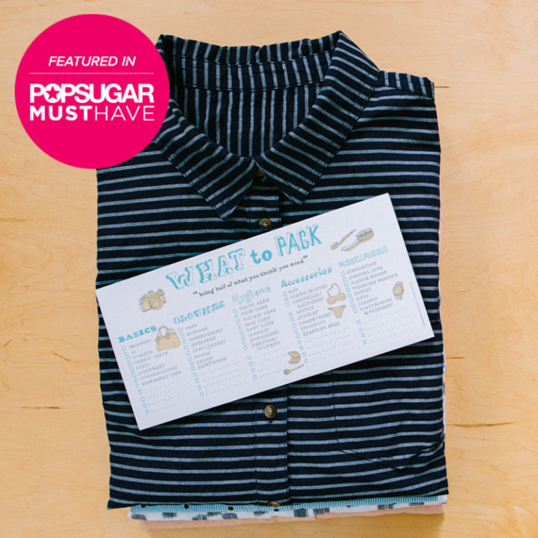 What to Pack Pad in PopSugar Must Have March Box
