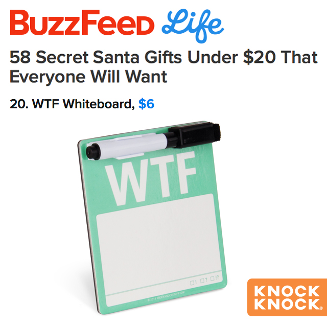 WTF Magnetic Mini Note on BuzzFeed
