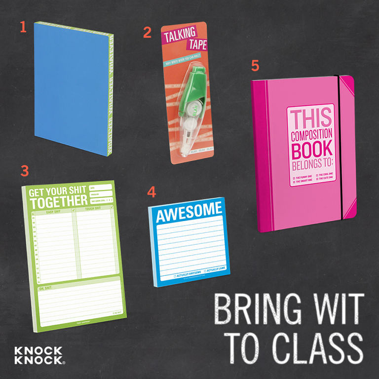 Back to School Gift Guide: Bring Wit to Class