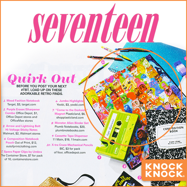 Monster Alien Binder Set in Seventeen Magazine