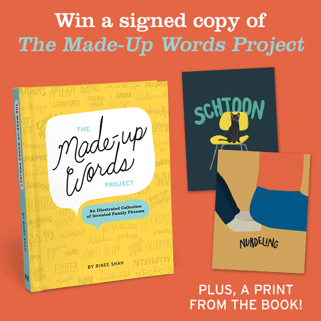 The Made-Up Words Project Giveaway - Win a Signed Book and a Special Framed Illustration from the Book