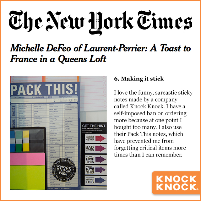 2015 Press NYT Pack This! Pad
