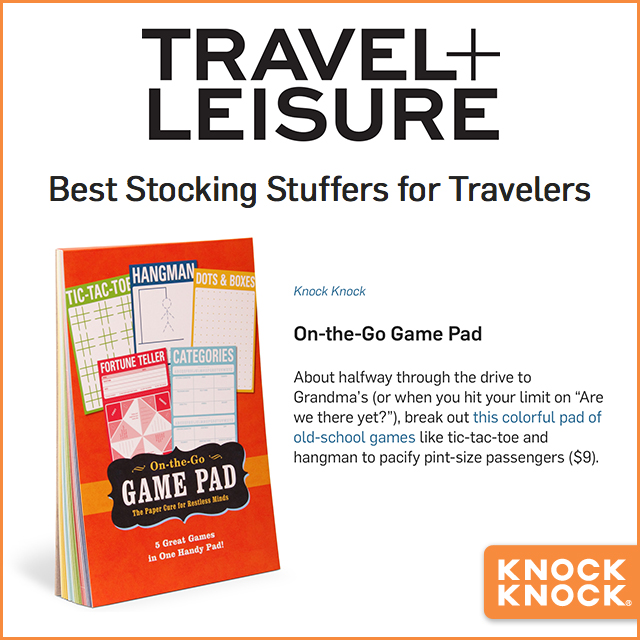 2014 Press Travel Leisure Game Pad