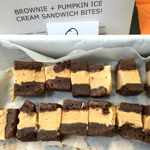 Pumpkin Brownie Ice Cream Sandwich
