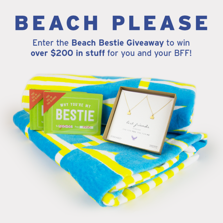 Enter the Beach Bestie Giveaway to Win Over $200 Worth of Stuff!
