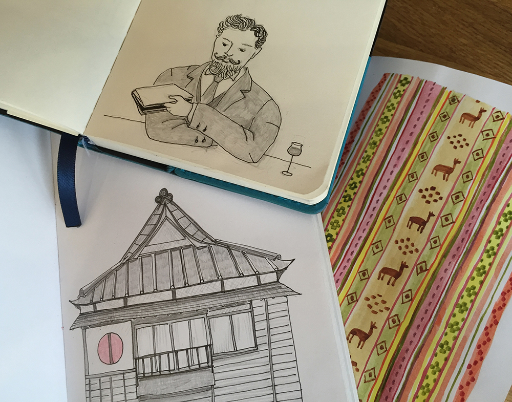 Naomi Sloman - Affirmators! Illustrator - Travel Sketchbooks