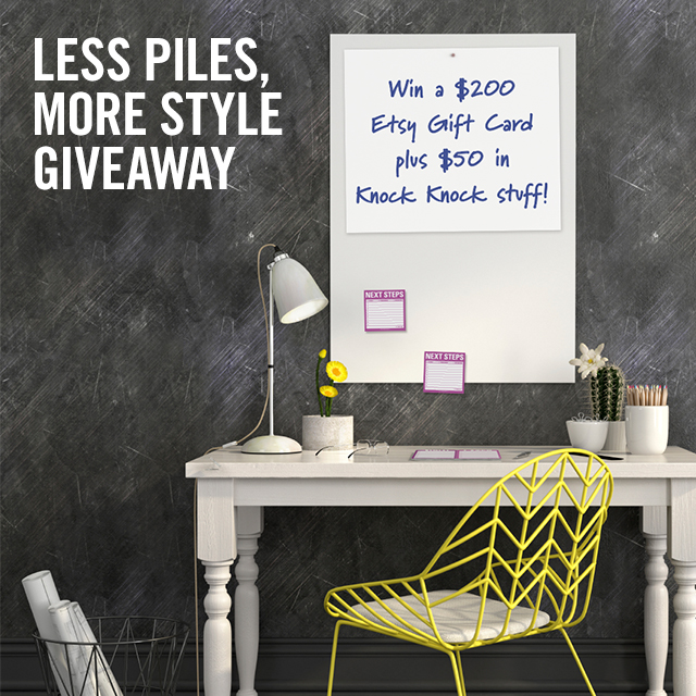 Less Piles, More Style Giveaway - Knock Knock