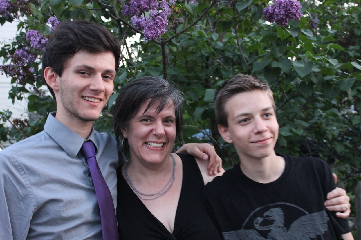 Megan Rubiner Zinn with Sons - Knock Knock Blog
