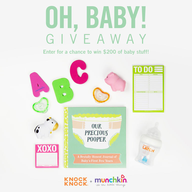 Oh, Baby Giveaway with Knock Knock and Munchkin