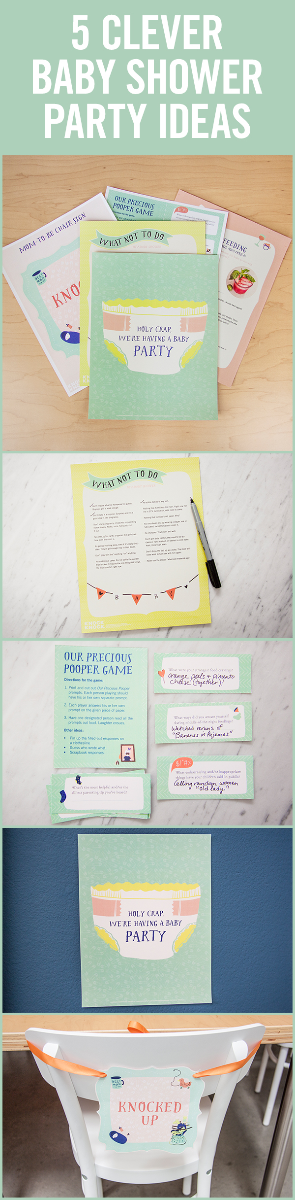 Holy Crap We're Having a Baby Shower Party Kit - Knock Knock Blog
