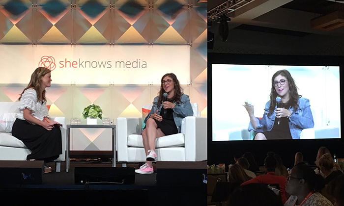 Mayim Bialik - BlogHer16 - Knock Knock Blog