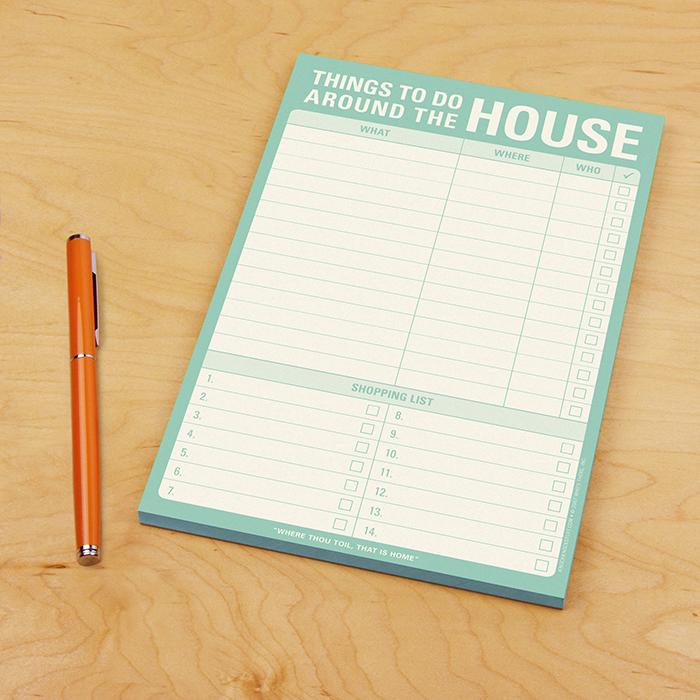 Things to Do Around the House Pad - Knock Knock Blog