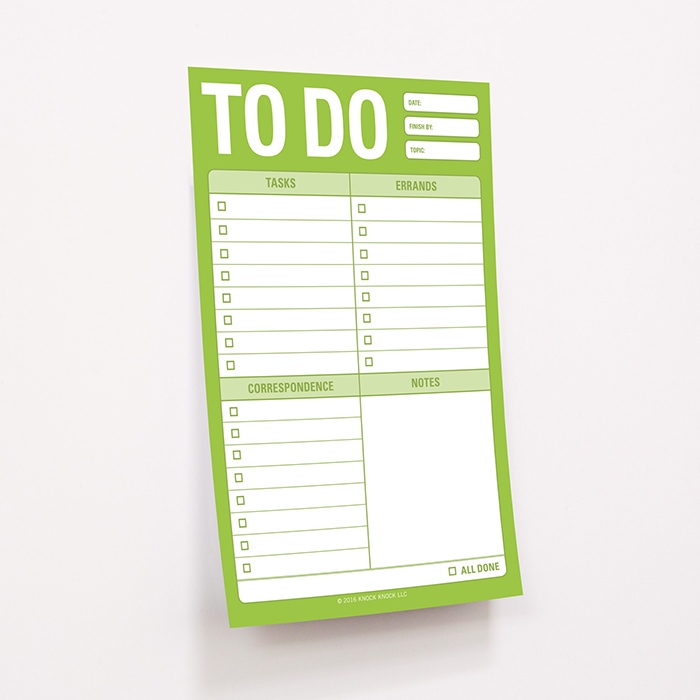 To Do Great Big Stickies - Knock Knock Blog