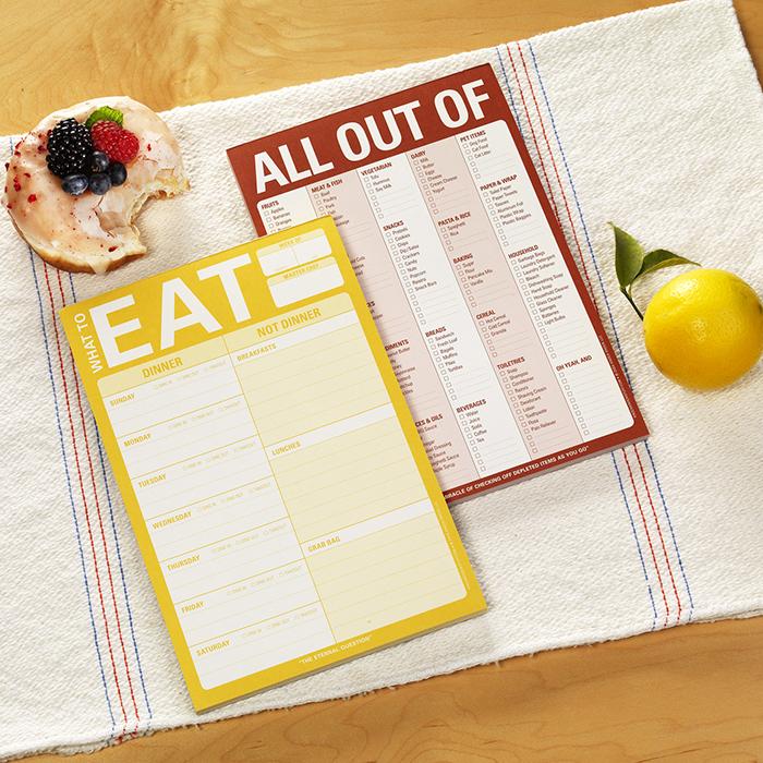 Let's Eat Notepad Set - Knock Knock Blog