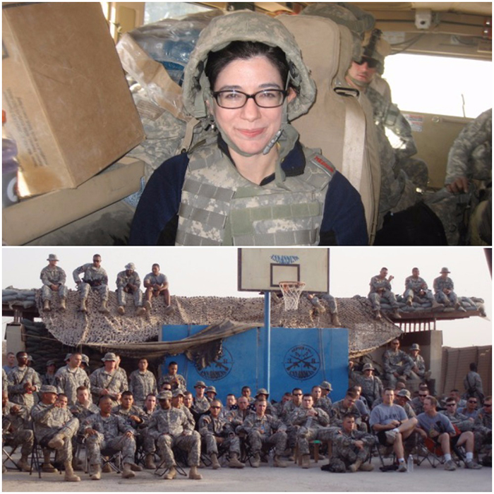 Dana Eagle with Troops - Knock Knock Blog