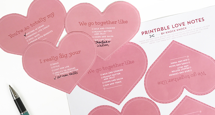 Free Printable Valentines - Knock Knock Blog