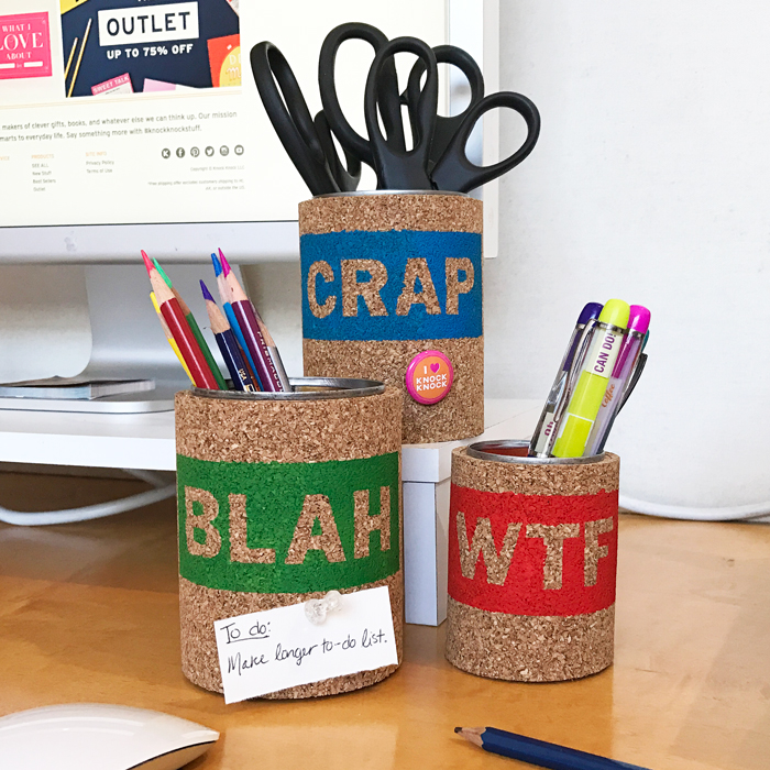 DIY Desk Organizers - Knock Knock Blog