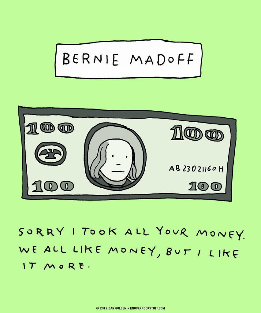 Bernie Madoff Apology - Knock Knock Blog