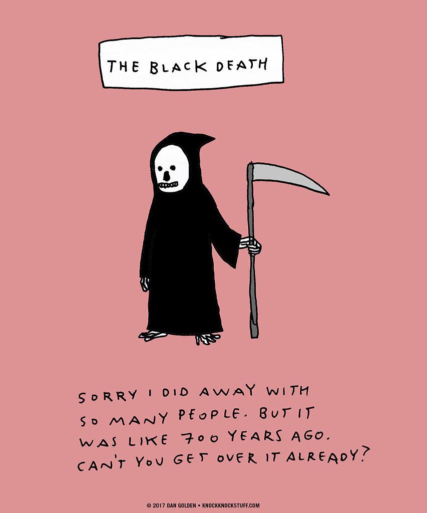 The Black Death Apology - Knock Knock Blog