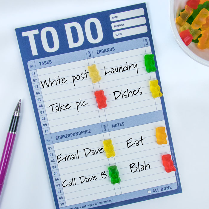 Gummy Bears To Do List - Knock Knock Blog