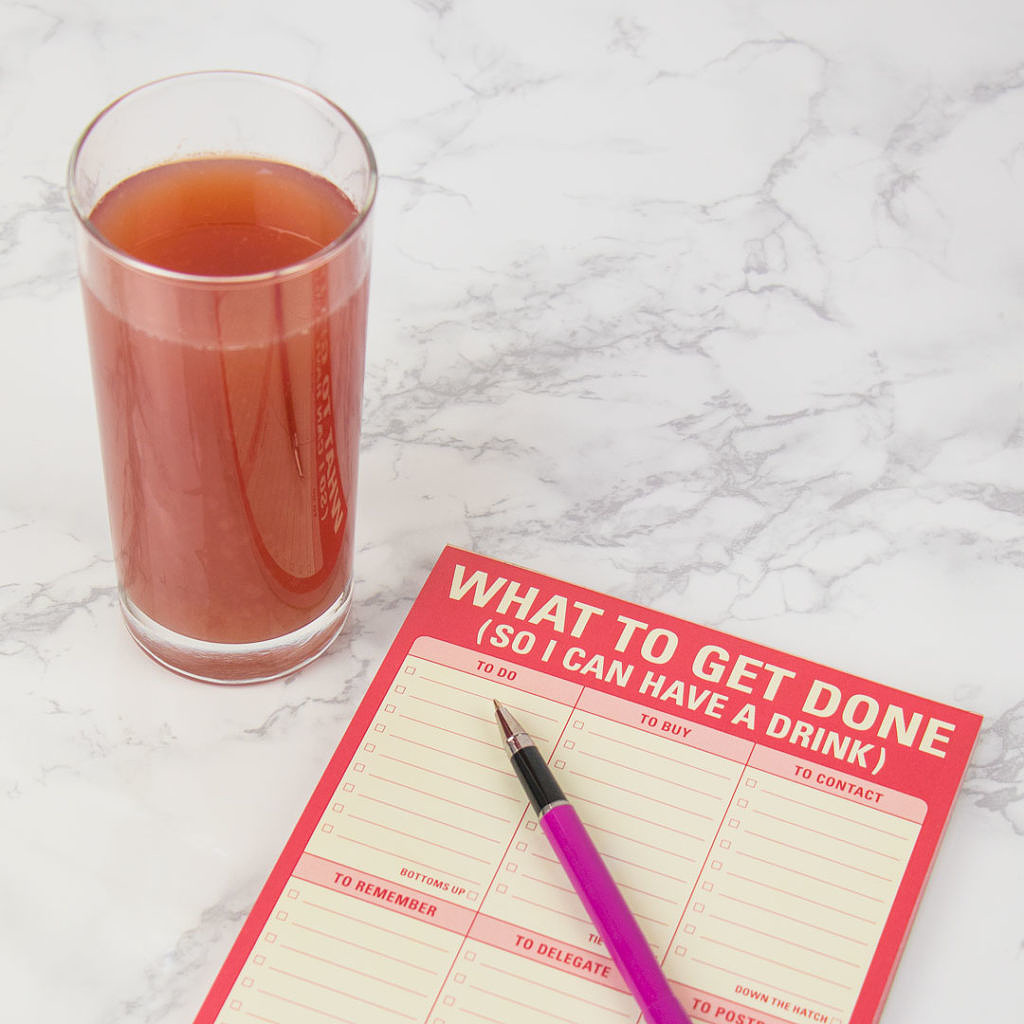 Drinks for Mundane Tasks - Writing A To Do List