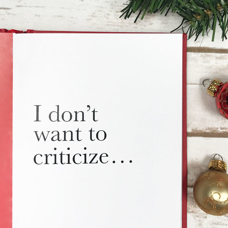 What Not to Say During the Holidays