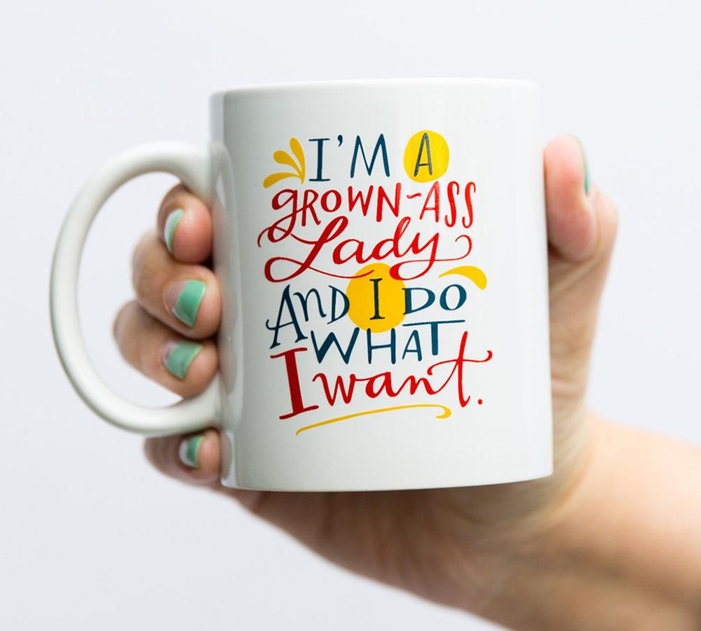 Emily McDowell & Friends Grown-Ass Lady Mug