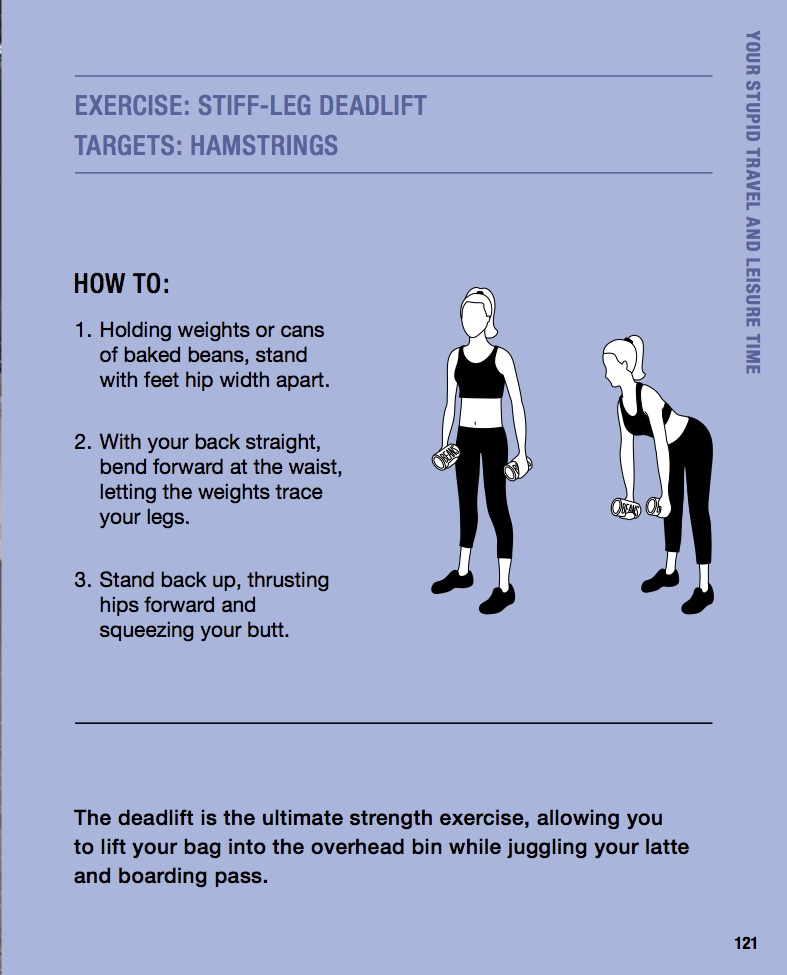 Exercise #7: Stiff-leg deadlift for hamstrings