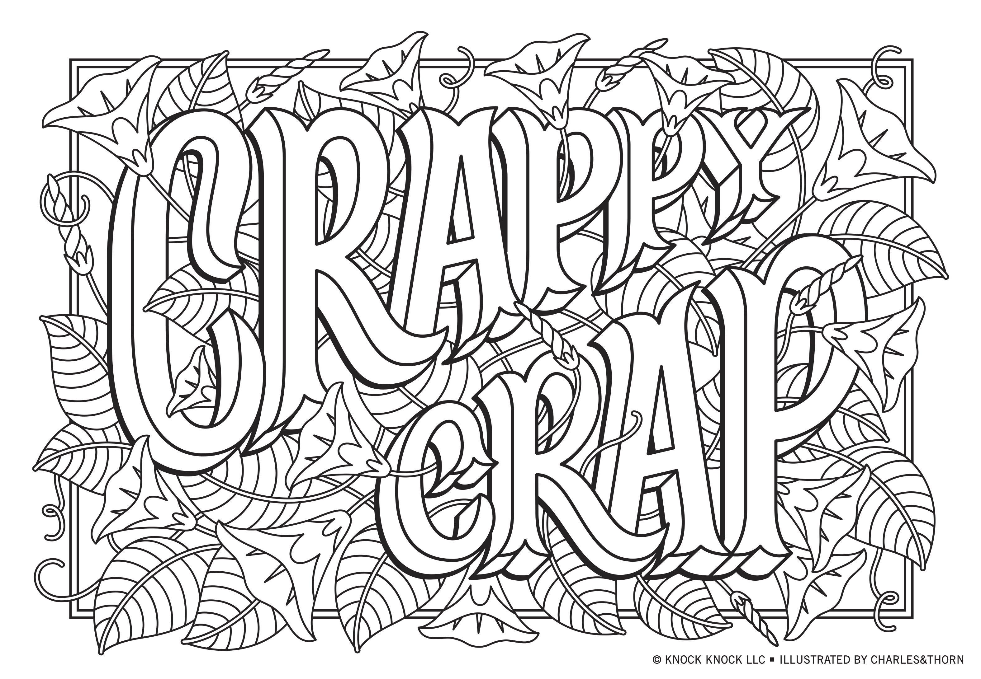 Funny Printable Coloring Pages for Adults by Knock Knock