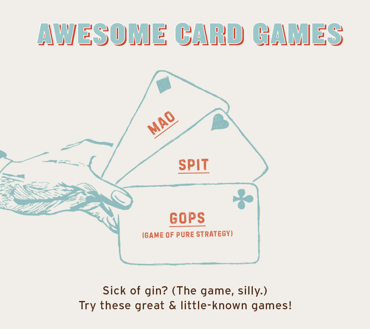 Awesome Card Games To Try—If You're Feeling a Little Sick of Gin (The Game, Silly.)