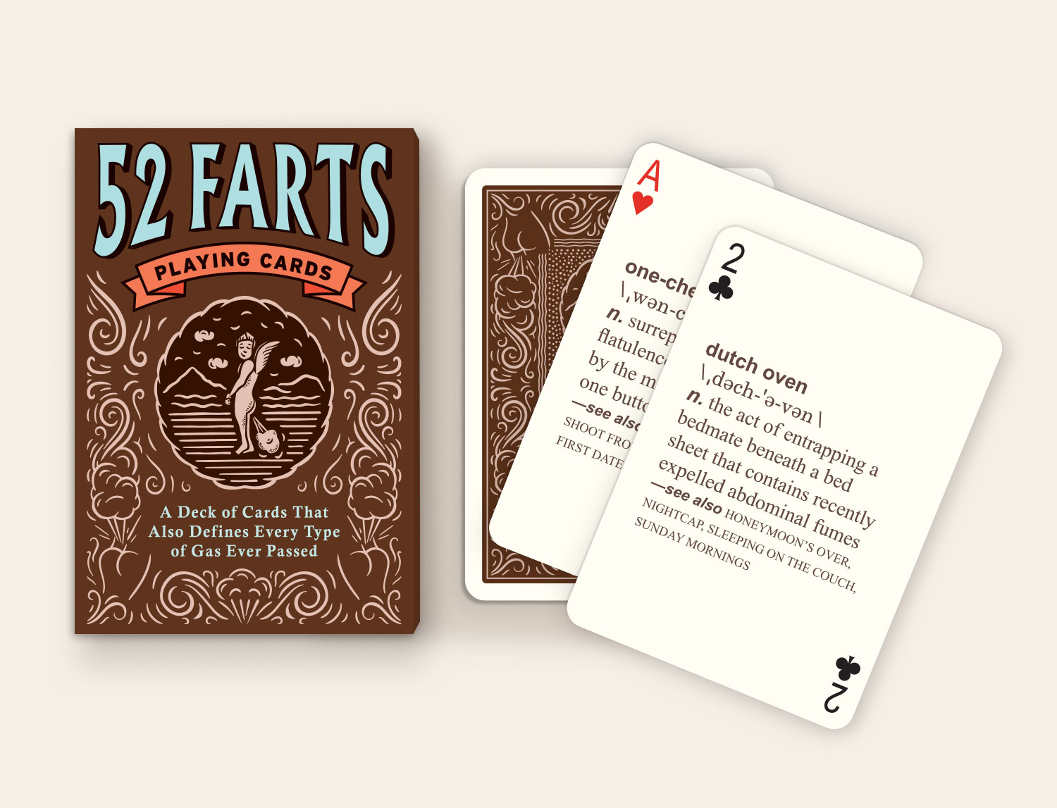 Knock Knock 52 Farts Playing Cards for Adults Card Games