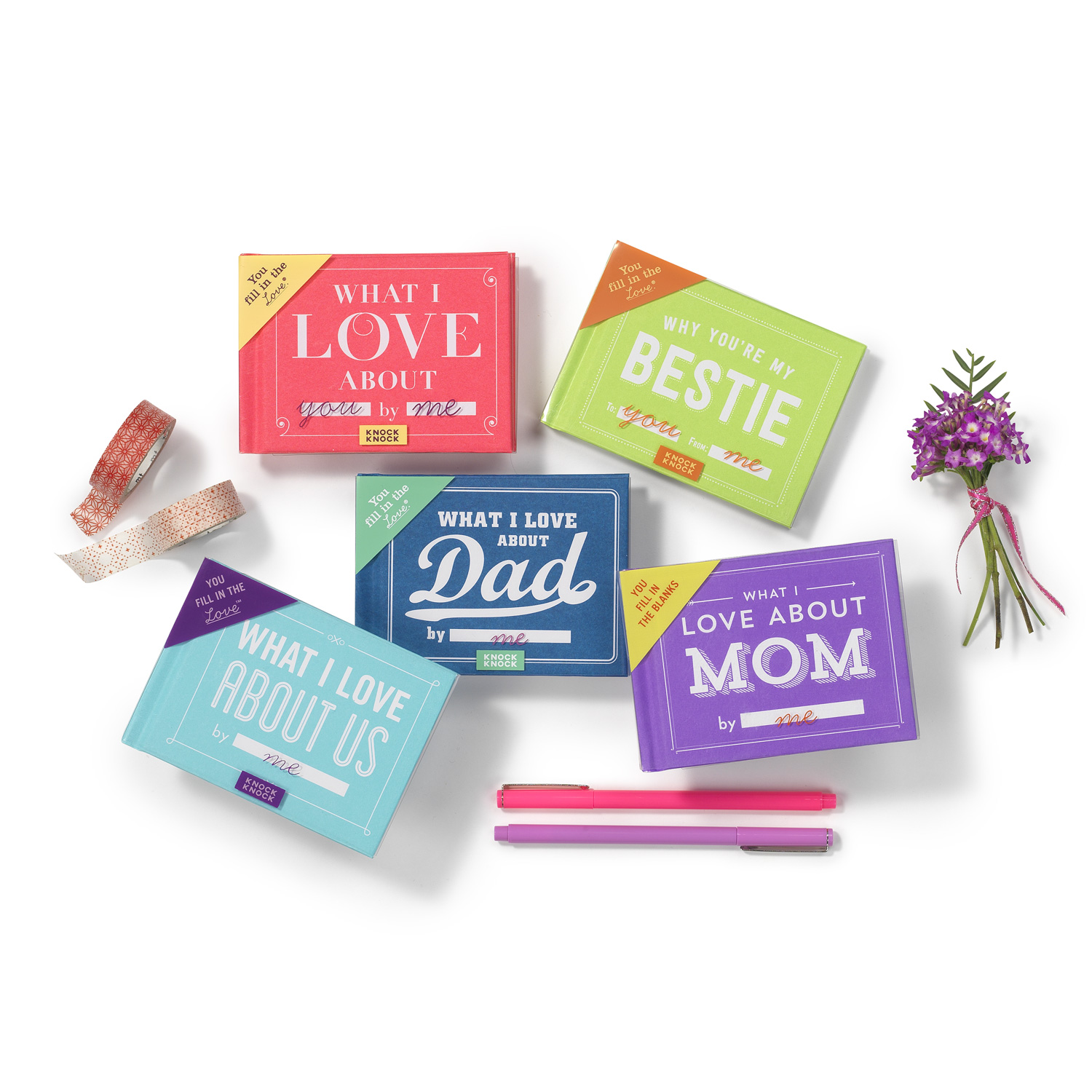 Knock Knock Fill in the Love Books - Personalized Fill-in-the-Blank Gift Books